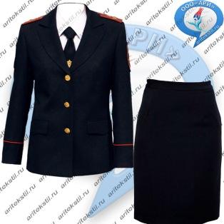 костюм китель полиции женский-2