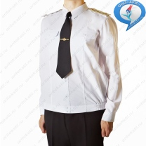 Рубашка ВМФ России с дилиными рукавами