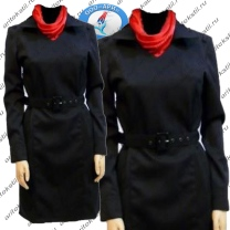 форменное полицейское платье с длинным рукавом-1