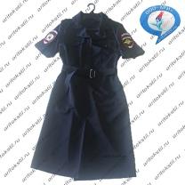 форменное полицейское платье с коротким рукавом