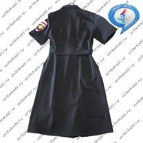 форменное полицейское платье с коротким рукавом-1