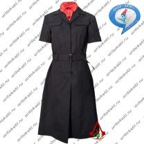 форменное полицейское платье с коротким рукавом-3
