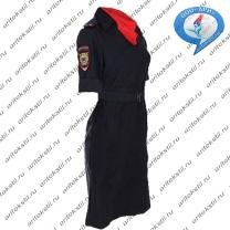 форменное полицейское платье с коротким рукавом-4