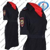 форменное полицейское платье с коротким рукавом-5